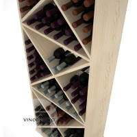 Professional Series - 6 Foot - Solid X-Cube Storage Rack - Pine Detail