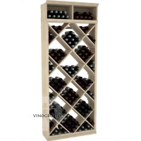 Professional Series - 7 Foot - Solid Diamond Wine Bin - Pine Showcase