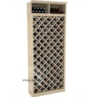 Professional Series - 7 Foot - Individual Diamond Wine Bin - Pine Showcase