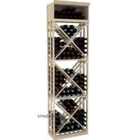 Professional Series - 7 Foot - Lattice X-Cube Storage Rack - Pine Showcase