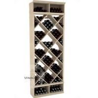 Professional Series - 8 Foot - Solid Diamond Wine Bin - Pine Showcase