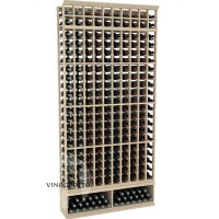 Professional Series - 8 Foot - 10 Column Cellar Rack - Pine Showcase