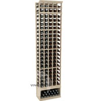 Professional Series - 8 Foot - 5 Column Cellar Rack - Pine Showcase