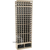 Professional Series - 8 Foot - 7 Column Cellar Rack - Pine Showcase