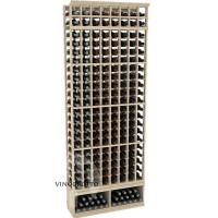 Professional Series - 8 Foot - 8 Column Cellar Rack - Pine Showcase