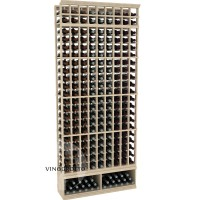 Professional Series - 8 Foot - 9 Column Cellar Rack - Pine Showcase