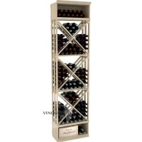 Professional Series - 8 Foot - Lattice X-Cube Storage Rack - Pine Showcase