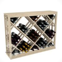Professional Series - Half Height - Lattice Diamond Wine Bin - Pine Showcase