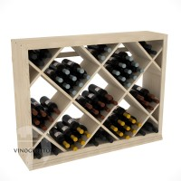 Professional Series - Half Height - Solid Diamond Wine Bin - Pine Showcase