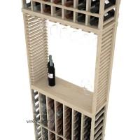 Professional Series - 7 Foot - Standard Tasting Station with Stemware Rack - Pine Detail