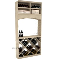 Professional Series - 8 Foot - Tasting Station with Solid Diamond Bin and Archway - Pine Showcase