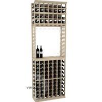 Professional Series - 8 Foot - Standard Tasting Station with Stemware Rack - Pine Showcase