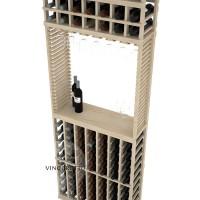 Professional Series - 8 Foot - Standard Tasting Station with Stemware Rack - Pine Detail