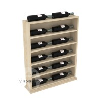 Professional Series Waterfall Rack Horizontal Display End Cap - Pine Showcase