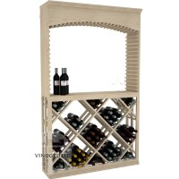 Professional Series - 6 Foot - Tasting Station with Lattice Diamond Bin and Archway - Pine Showcase
