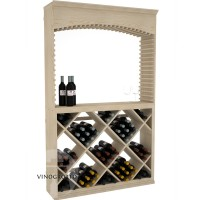 Professional Series - 6 Foot - Tasting Station with Solid Diamond Bin and Archway - Pine Showcase