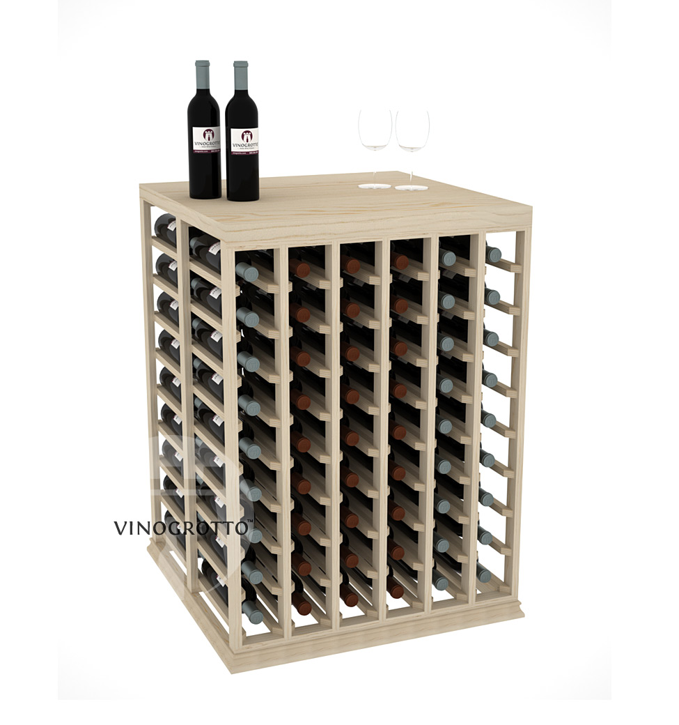Professional Series - Half Height - Double Deep Tasting Table Rack - Pine Showcase