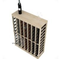 Professional Series - Half Height - Standard Tasting Table Rack - Pine Detail