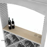 Professional Series Solid Table Top for Diamond Bin and Archway - Pine Showcase