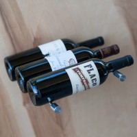 Vino Pins - Triple Bottle - Milled-Aluminum Showcase