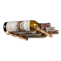 Vino Pins Triple Bottle - With Drywall Collars - Golden-Bronze