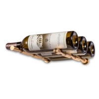 Vino Pins Triple Bottle - With Drywall Collars - Golden-Bronze Showcase