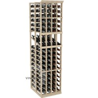 Professional Series - 6 Foot - Double Deep - 4 Column Display Rack - Pine Showcase