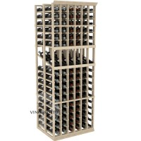 Professional Series - 6 Foot - Double Deep - 6 Column Display Rack - Pine Showcase