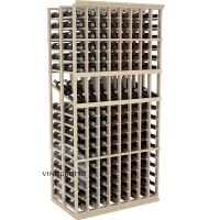 Professional Series - 6 Foot - Double Deep - 8 Column Display Rack - Pine Showcase