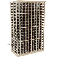 Professional Series - 6 Foot - Double Deep - 10 Column Cellar Rack - Pine Showcase