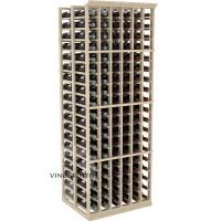 Professional Series - 6 Foot - Double Deep - 6 Column Cellar Rack - Pine Showcase