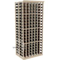 Professional Series - 6 Foot - Double Deep - 7 Column Cellar Rack - Pine Showcase