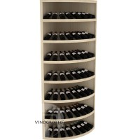 Retail Value Series - Commercial 7 Tier Solid Wood Corner Round Wine Display - Pine Showcase