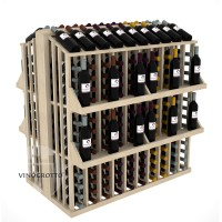Retail Value Series - 300 Bottle Commercial Aisle Display with 4 Shelves - Pine Showcase