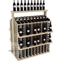 Retail Value Series - 300 Bottle Commercial Aisle Display with 4 Shelves + Solid Top - Pine Showcase