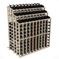 Retail Value Series - 220 Bottle Half Aisle Commercial Display - Pine Showcase
