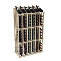 Retail Value Series - 78 Bottle Half Aisle Commercial Display - Pine Showcase