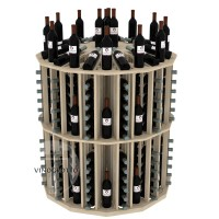Retail Value Series - 204 Bottle Commercial Round Aisle Display - Pine Showcase