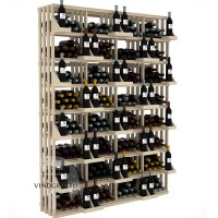 Retail Value Series - 416 Bottle Retail Wall Display - Pine Showcase