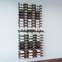 Presentation Row Wine Wall Kit - 144 Bottles (Satin-Black Showcase)