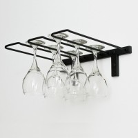 Vintage View WS-SR - 6 Glass Stemware Rack - Satin-Black Showcase