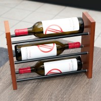 VintageView Evolution Tabletop 3-Bottle Wine Rack