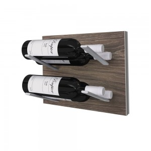 Stact L-Type Wine Rack - Gray Oak
