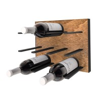Stact Wine Wall Rack - Black and Tan