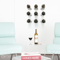 VintageView Vino Rails Designer Kit - 9 Bottles (Milled Aluminum)