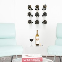 VintageView Vino Rails Designer Kit - 9 Bottles (Anodized Black)