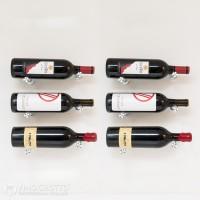 VintageView Vino Pins Designer Kit - 6 Bottles (Milled-Aluminum Showcase)