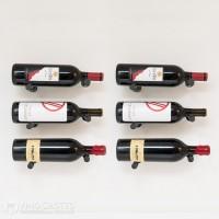 VintageView Vino Pins Designer Kit - 6 Bottles (Anodized-Black Showcase)