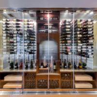 VintageView 45 Bottle Wine Rack – WS53 – 5 Foot (Satin Black)
