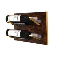 STACT L-Type Wine Rack - Burl & Gold